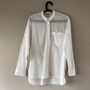 Madewell Swiss dot shirt